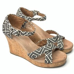 TOMS | Wedge Cork Platform Heels